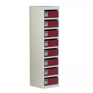8 Post Box Armour Locker - 100 Series - 1075H 230W 255D (mm)
