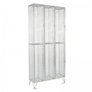 2 Door Mesh Locker Nest of 3