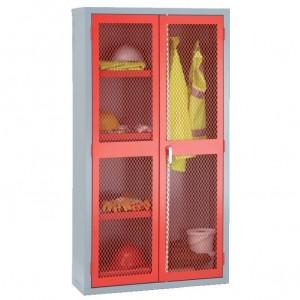 2 Door Mesh Cabinet - 1830H 915W 459D (mm) - Central Divider