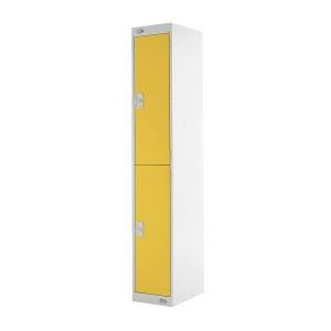 2 Door Link Locker - 1800H 300W 300D (mm) Yellow