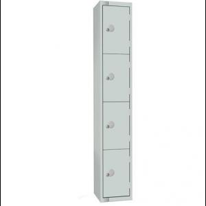 4 Door Elite Rental Locker - 1800H 450W 450D  (mm) Grey Carcass - Grey Doors - Coin Return Locks