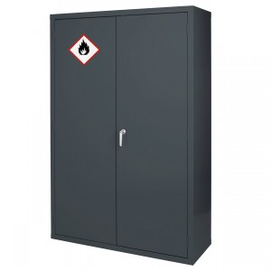 Premium Grey Highly Flammable Cabinet - 1830H 1220W 459D