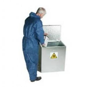 Galvanised  Hazardous Substance Bin - 765 x 685 x 508 (mm)