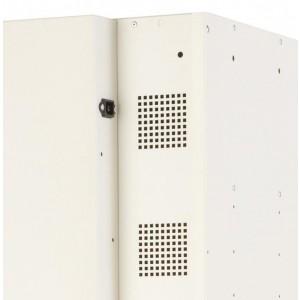 Probe 1 Door 15 Shelf Charging Media Locker - 1780H 380W 525D (mm)