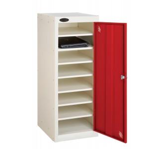 Probe 1 Door 8 Shelf Non-Charging Media Locker - 1000H 380W 460D (mm)