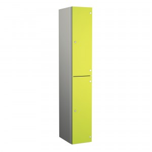 2 Door Probe ZenBox Aluminium Body Locker with Solid Grade Laminate Door