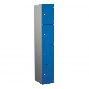 4 Door Probe ZenBox Aluminium Body Locker with Solid Grade Laminate Door