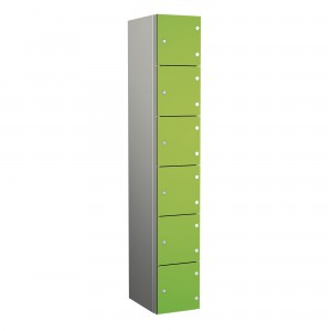 6 Door Probe ZenBox Aluminium Body Locker with Solid Grade Laminate Door
