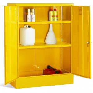 Double Door Elite Flammable Cabinet  - Open
