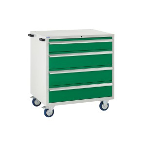 4 Drawer Euroslide Mobile Tool Cabinet - 980H 900W 650D - Green