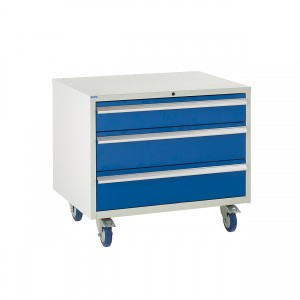 3 Drawer Euroslide Under Bench Tool Cabinet 2 - 780H 900W 650D - Blue