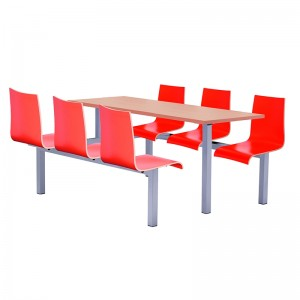 Hinton Heavy Duty 6 Seater Fixed Canteen Seating - Table and Chairs