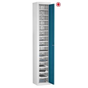 1 Door 15 Shelf - Blue Doors