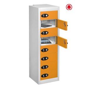 8 Door 8 Shelf - Orange Doors