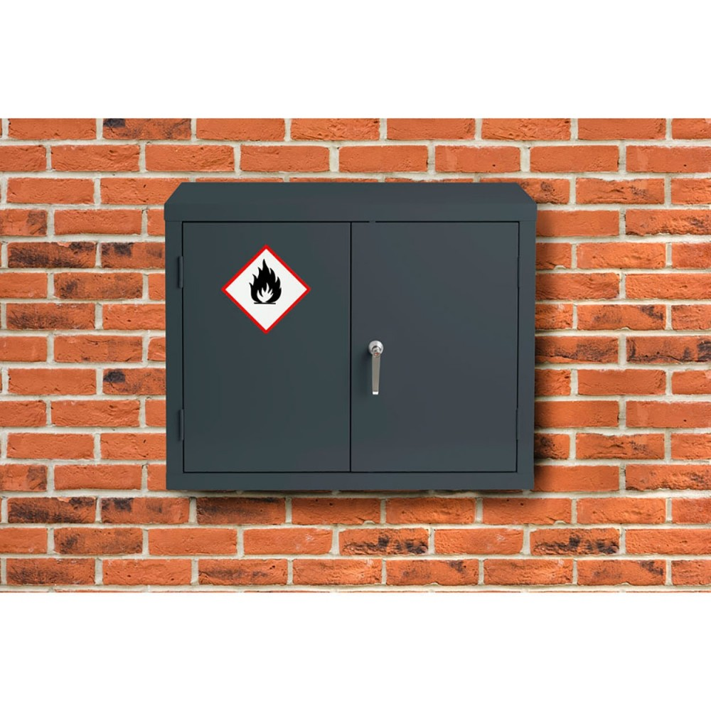 Premium Grey Highly Flammable Cabinet - 712H 915W 305D