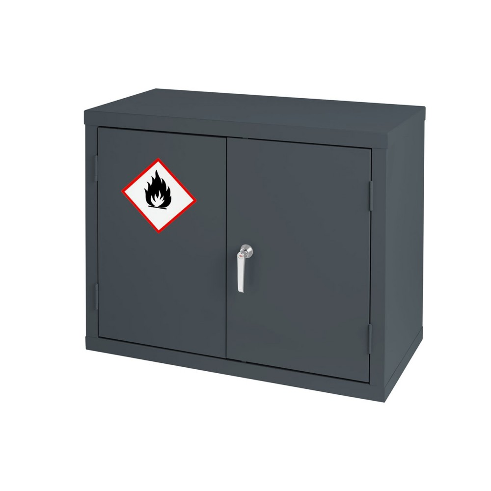 Premium Grey Highly Flammable Cabinet - 712H 915W 459D