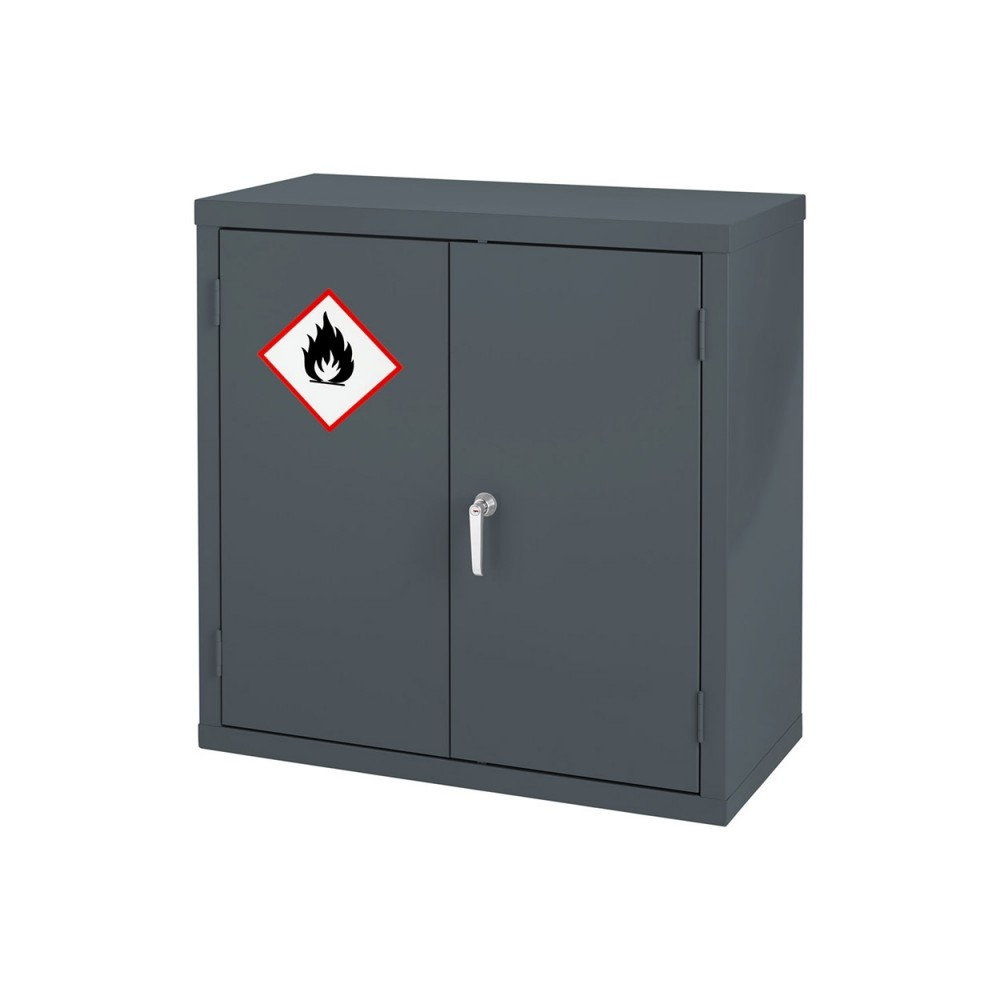 Premium Grey Highly Flammable Cabinet - 915H 915W 459D