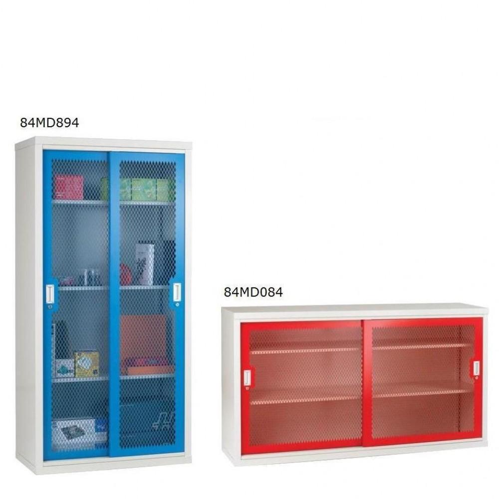 click here to zoom in sliding door mesh cabinet