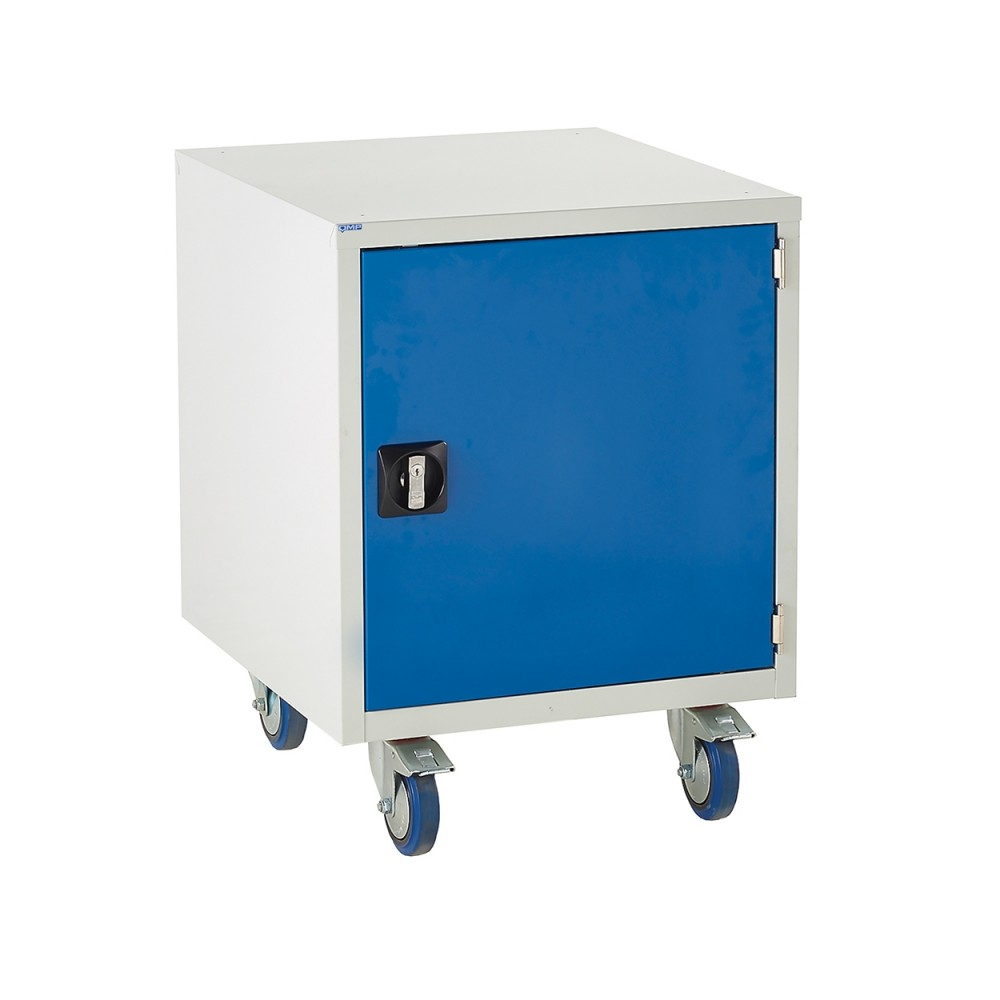 Euroslide Under Bench Tool Cabinet with 550mm High Cupboard - 780H 600W 650D - Blue