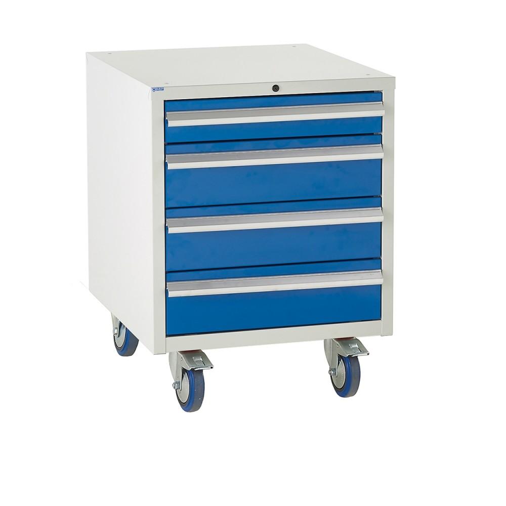 4 Drawer Euroslide Under Bench Tool Cabinet 2 - 780H 600W 650D - Blue