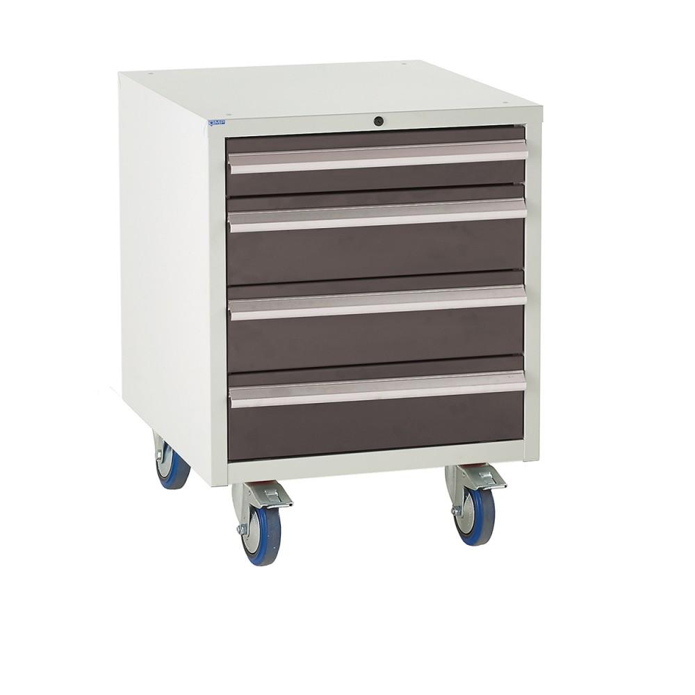 4 Drawer Euroslide Under Bench Tool Cabinet 2 - 780H 600W 650D - Black
