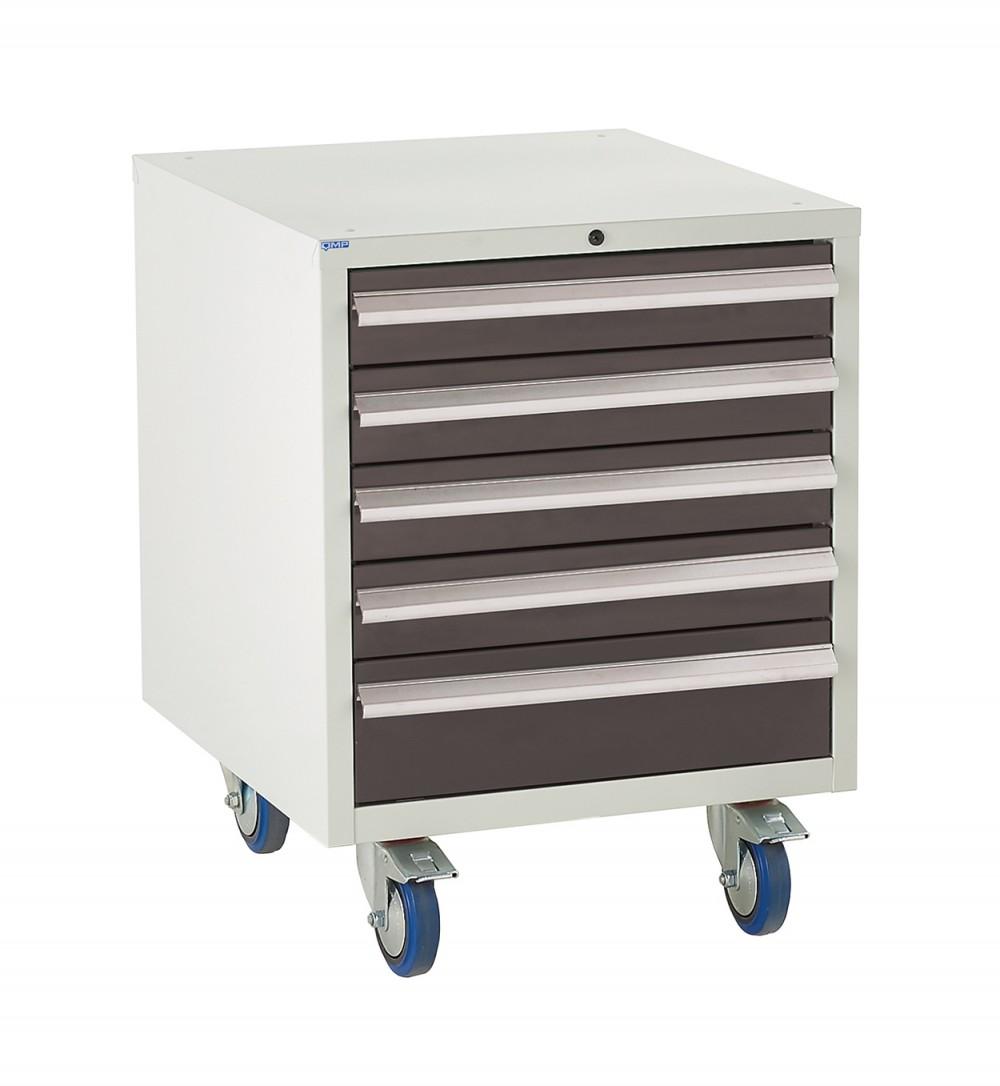 5 Drawer Euroslide Under Bench Tool Cabinet - 780H 600W 650D - Black