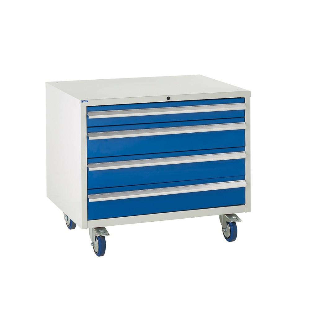 4 Drawer Euroslide Under Bench Tool Cabinet 2 - 780H 900W 650D - Blue