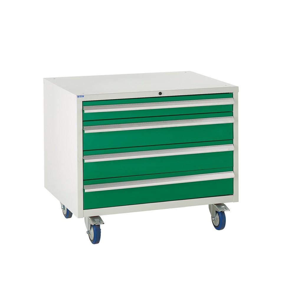 4 Drawer Euroslide Under Bench Tool Cabinet 2 - 780H 900W 650D - Green