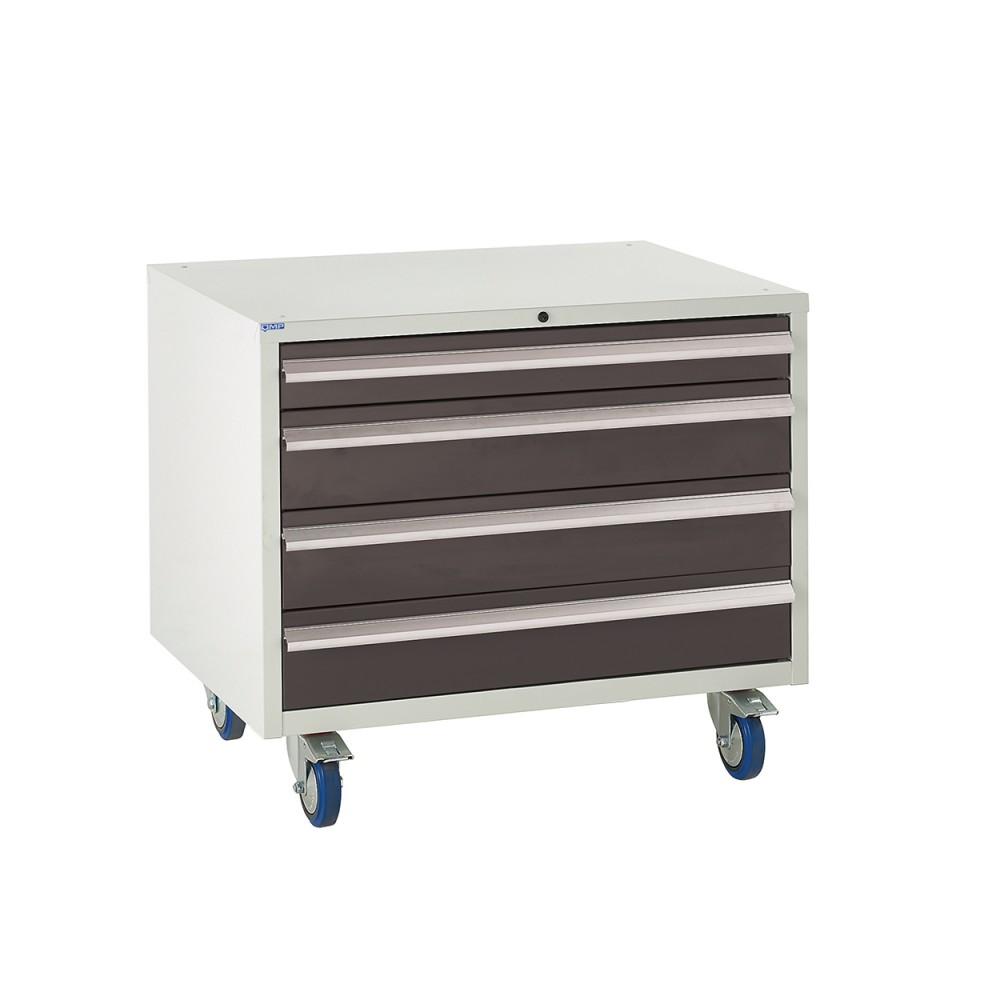 4 Drawer Euroslide Under Bench Tool Cabinet 2 - 780H 900W 650D - Black