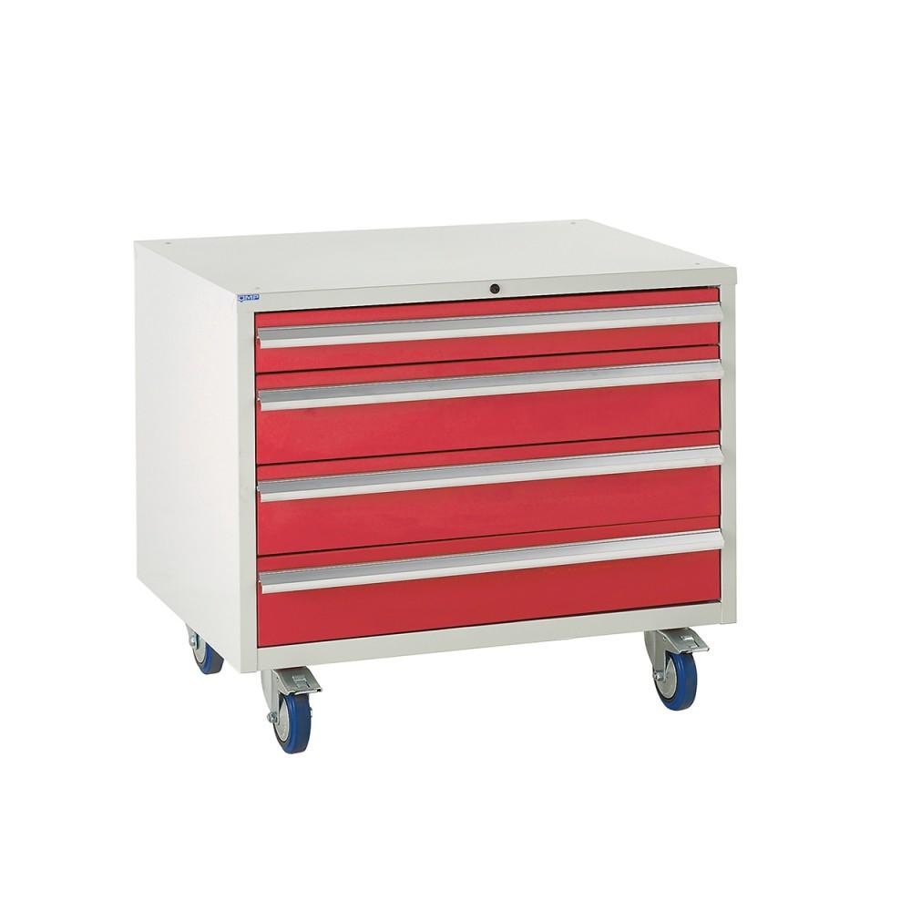 4 Drawer Euroslide Under Bench Tool Cabinet 2 - 780H 900W 650D -Red