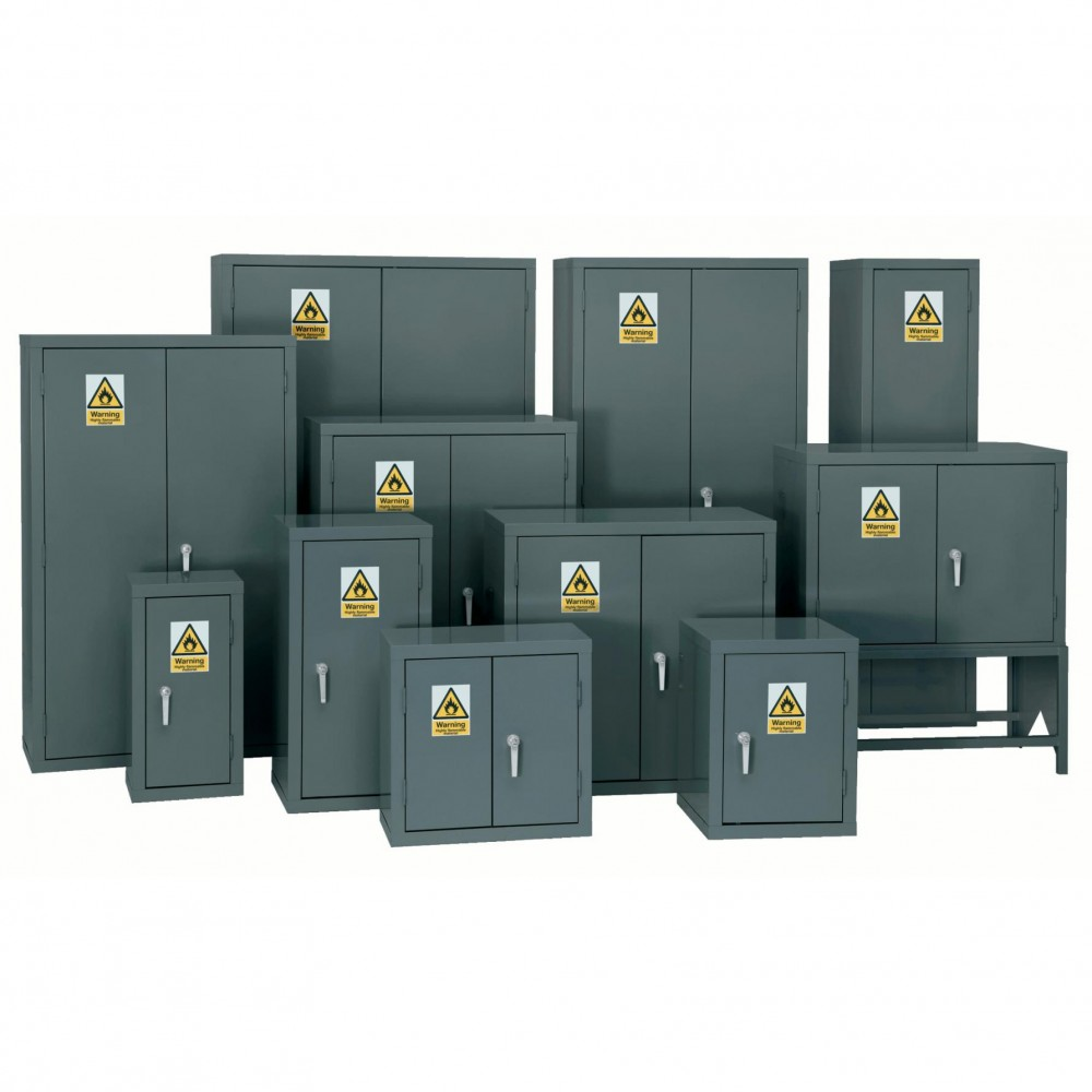 Premium Grey Highly Flammable Cabinet - 712H 355W 305D