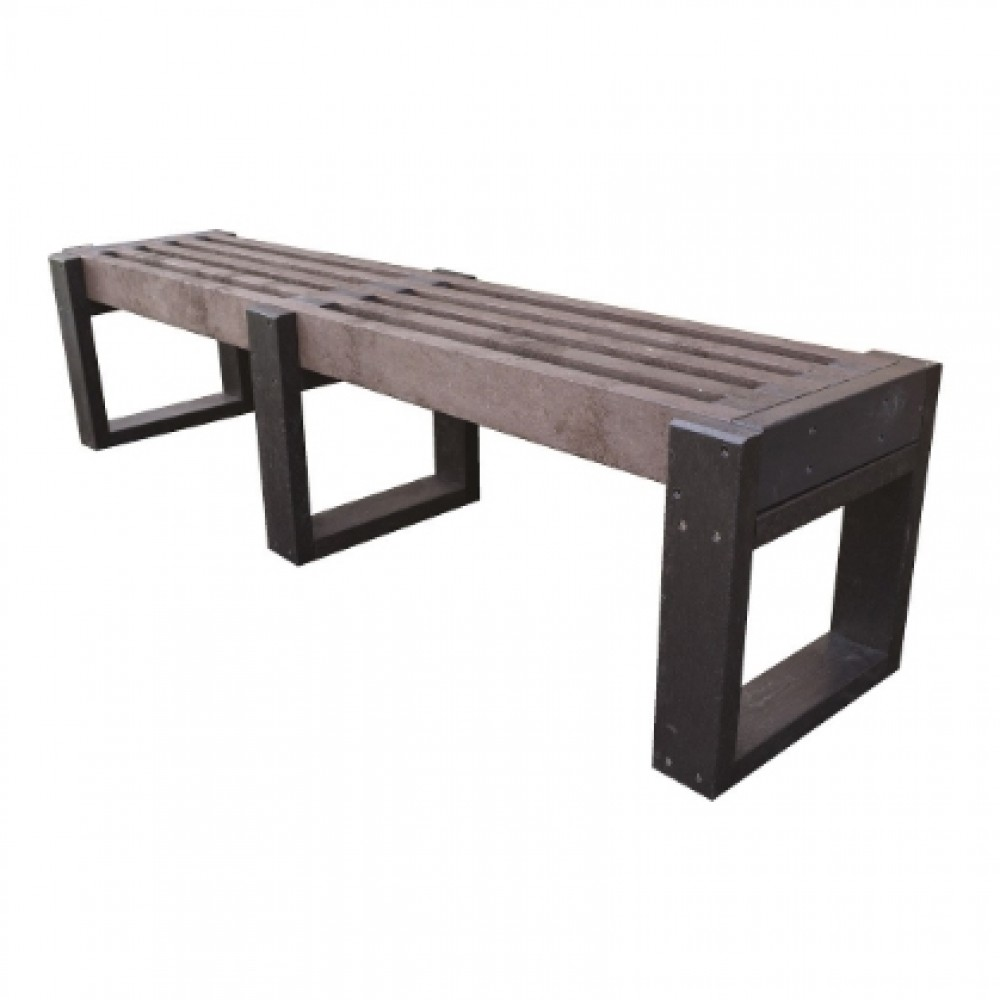 Wet Area Changing Room Bench - All Recycled Plastic Slats - 400H 1800W 300D (mm)