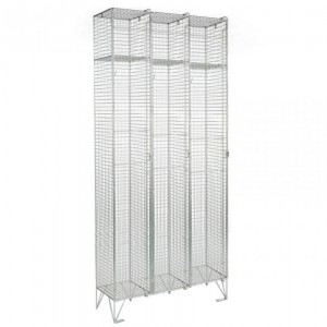1 Door Mesh Locker Nest of 3