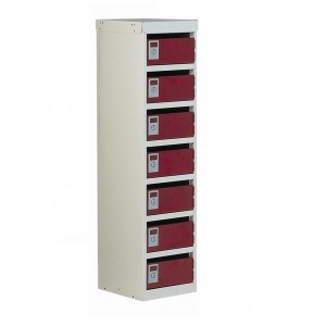 7 Post Box Armour Locker - 140 Series - 1230H 300W 380D (mm)