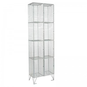 4 Door Mesh Locker Nest of 2