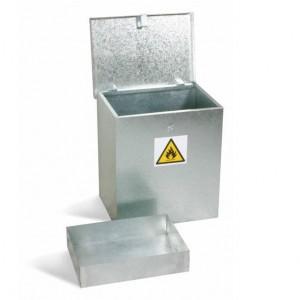 Galvanised  Hazardous Substance Bin -  with optional sump
