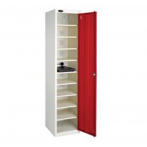 Probe 1 Door 10 Shelf Charging Media Locker - 1780H 380W 525W (mm)