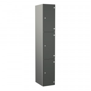 3 Door Probe ZenBox Aluminium Body Locker with Solid Grade Laminate Door