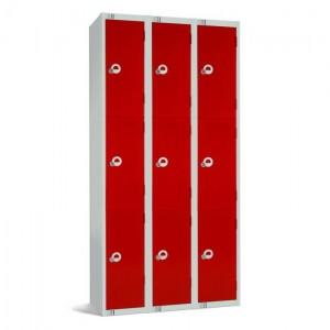 Three Door Locker Nest of 3 - 1800H x 900W x 300D