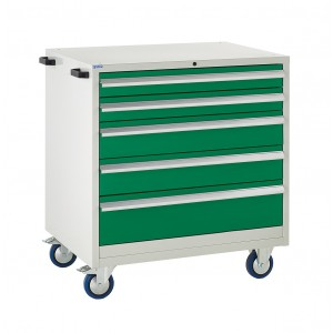 5 Drawer Euroslide Mobile Tool Cabinet - 980H 900W 650D -Type 1
