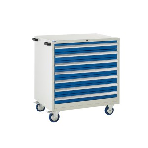 7 Drawer Euroslide Mobile Tool Cabinet - 980H 900W 650D - Blue