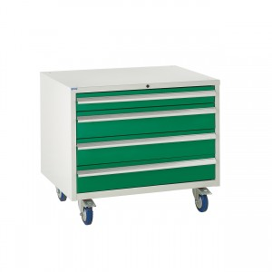 4 Drawer Euroslide Under Bench Tool Cabinet 2 - 780H 900W 650D - Green