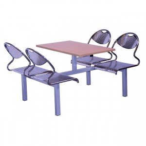 Juniper 4 Seater Heavy Duty Fixed Canteen Seating - Table and Chairs