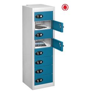 8 Door 8 Shelf - Blue Doors